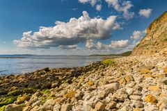 Osmington Bay, Jurassic Coast, Dorset, UK. Clouds over Osmington Bay, Osmington Mills near Weymouth, Jurassic Coast, Dorset, UK Royalty Free Stock Photography