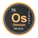 Osmium Os chemical element. 3D rendering. Isolated on white background stock illustration