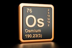 Osmium Os chemical element. 3D rendering. Osmium Os, chemical element. 3D rendering isolated on black background vector illustration