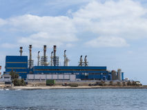 Osmosis ocean water treatment plant for desalination. Royalty Free Stock Image