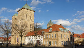 Osnabrueck, Germany. NOVEMBER 2, 2014: Cathedral of Osnabrueck in the beautiful light of autumn on November 2, 2014 in Germany, Europe Royalty Free Stock Photos