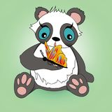 oso animal lindo lindo de la mariposa de la panda y de la historieta fotografía de archivo libre de regalías