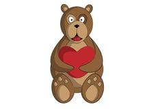 Oso con el corazón imagen de archivo libre de regalías