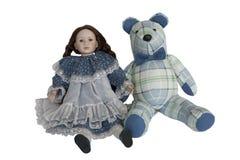 Oso con la muñeca Fotos de archivo libres de regalías