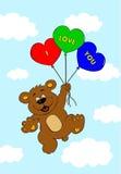 Oso con los globos Foto de archivo libre de regalías
