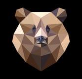 Oso de Brown en el estilo del polígono Ejemplo de la moda de ilustración del vector