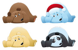 Oso de Brown, oso polar y panda. Imágenes de archivo libres de regalías