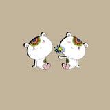 Oso de dos amantes Ilustración del Vector