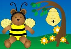 Oso de la abeja de la miel Foto de archivo libre de regalías