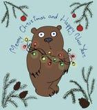 Oso de la Navidad ilustración del vector