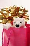 Oso de la Navidad Foto de archivo libre de regalías