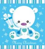 Oso de la Navidad stock de ilustración