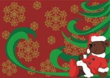 Oso de la Navidad Imágenes de archivo libres de regalías