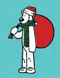 Oso de la Navidad Fotografía de archivo libre de regalías