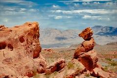 Oso de la piedra caliza en el valle del fuego imagen de archivo libre de regalías