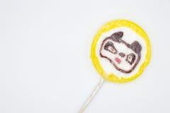 Oso de la piruleta aislado en el fondo blanco Fotografía de archivo libre de regalías