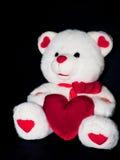 Oso de la tarjeta del día de San Valentín Fotografía de archivo libre de regalías
