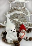 Oso de peluche blanco de la Navidad Imágenes de archivo libres de regalías