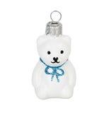 Oso de peluche blanco del juguete de la Navidad Foto de archivo libre de regalías