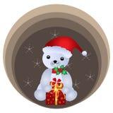 Oso de peluche de la Navidad Foto de archivo