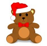 Oso de peluche de la Navidad ilustración del vector