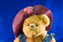 Oso de peluche de Momma con el sombrero Fotos de archivo