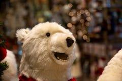 Oso de peluche en la Navidad foto de archivo