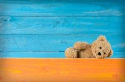 Oso de peluche lindo con colores de fondo completos  Imagen de archivo libre de regalías