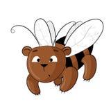 Oso de peluche vestido como abeja Imagen de archivo libre de regalías