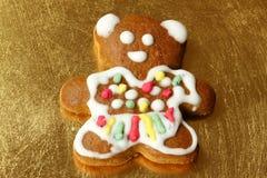 Oso del pan de jengibre Imagen de archivo libre de regalías