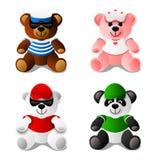 Oso del peluche, panda, juguetes ilustración del vector