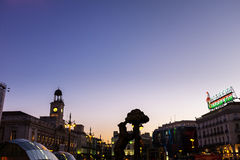 Oso en Madroño in Puerta del Sol in Madrid Stock Afbeelding
