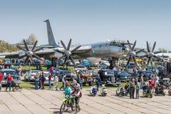 Oso estratégico del bombardero Tu-95 Fotos de archivo libres de regalías