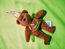 oso feliz del día del nacimiento Foto de archivo
