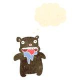 oso hambriento de la historieta retra pequeño libre illustration
