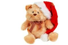 Oso lindo de la felpa de la Navidad con el capo 2 Imágenes de archivo libres de regalías