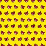 Oso - modelo 13 del emoji stock de ilustración