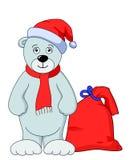 Oso Papá Noel del peluche Imagen de archivo libre de regalías