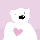Oso polar con el corazón del amor libre illustration