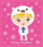 Oso polar de la Navidad Imagen de archivo libre de regalías
