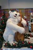 Oso polar de la Navidad Foto de archivo