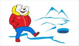 Oso polar divertido Imagen de archivo libre de regalías