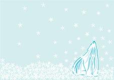 Oso polar en nieve Fotografía de archivo libre de regalías