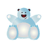 Oso polar ilustrado Fotos de archivo libres de regalías