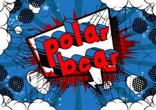 Oso polar - Vector la frase ilustrada del estilo del cómic stock de ilustración