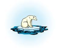 Oso polar y mar contaminado libre illustration