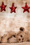 Oso y estrellas del peluche Fotos de archivo