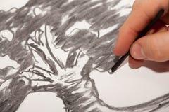 Węglowy rysunek Fotografia Stock