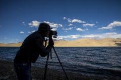 Osoba fotografuje morze Obraz Stock