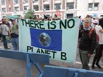 Osoba klimat Marzec Miasto Nowy Jork 2014 Obraz Stock